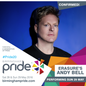 Pride - Andy Bell - Sunday 29 May (Erasure 75%)